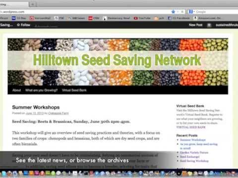 Hilltown Seed Saving Network | This WordPress com site is