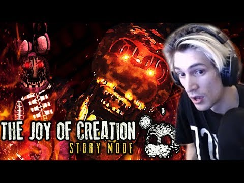 WARNING: HE'S COMING FOR US ALL! | XQc Plays The Joy Of Creation (FNAF Horror Game)