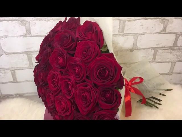 35 роз в фетре