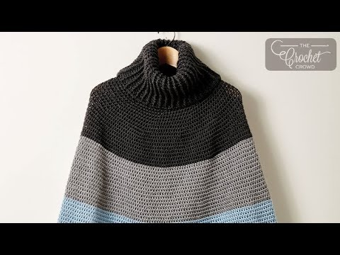 How To Crochet A Cape Cozy Cowl Cape Poncho Youtube