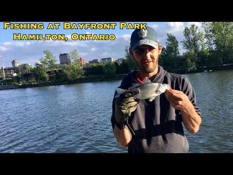 FISHING AT BAYFRONT PARK HAMILTON ONTARIO