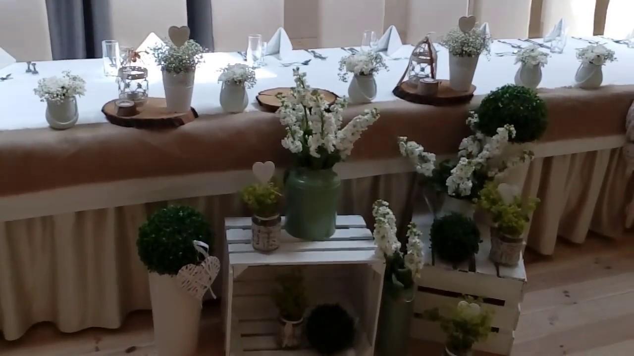 Dekoracja Sal Styl Rustykalny Weddingstory Youtube