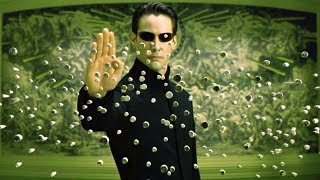 """Смотри описание! Сцена драки, где Нео останавливает пули. Фильм """"Матрица: Перезагрузка"""". 2003 год"""