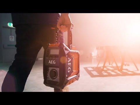 AEG Powertools: 18V 240V Hybrid Bluetooth Jobsite Radio