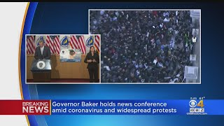 Gov. Baker Responds To George Floyd Protests In Boston That Turned Violent
