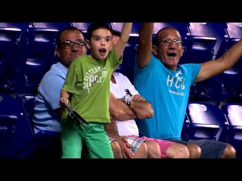 Kid dances on Miami Marlins Fan Cam -  Original Upload - Official -