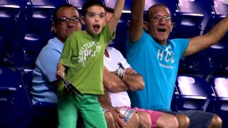 Kid dances on Miami Marlins Fan Cam