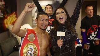 EXCLUSIVE: AND STILL... IBF flyweight champ! Donnie Nietes post-fight interview