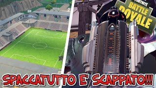 SPACCATUTTO IS SCAPPATO!!! OPEN METEORITE FORTNITE!!! UPDATE PATCH 4.4 FOOTBALL FIELD!