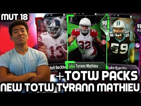WE GET NEW TOTW TYRANN MATHIEU & CARR! Madden Ultimate Team