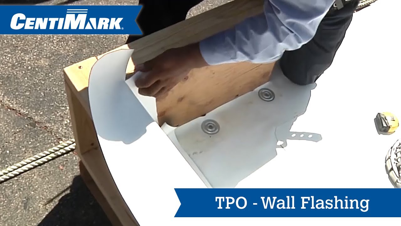 Tpo Roof System Wall Flashing Tpo Roofing Centimark