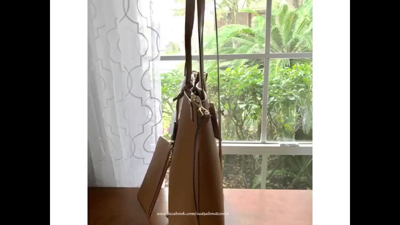 bd1ea4eff56c MICHAEL Michael Kors Hayley Large North South Tote-ACORN - YouTube