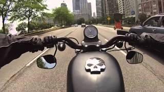 GoPro: Harley Iron 883 Chicago i290/Lake Shore Drive