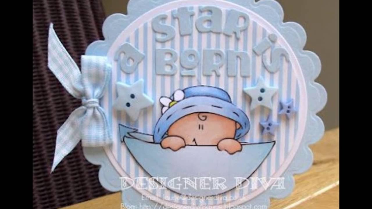 ee77268840d76 Creativas tarjetas para Baby shower hecha mano - YouTube