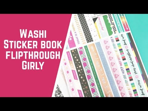 Washi Book Flipthrough- Girly