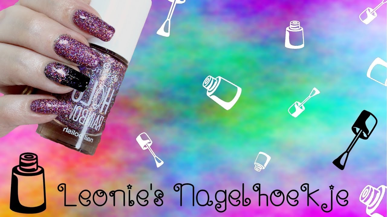 272d0e34bed Essence Holo Rainbow collectie swatches en nailart - YouTube