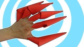 DIY Easy Paper Origami Finger Claws Instructions