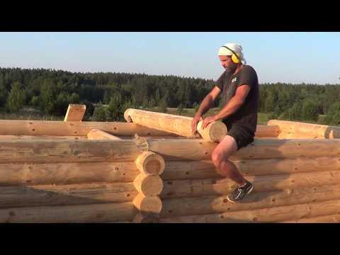 Построил деревянный дом за 10 дней СВАИ БРУС ОНДУВИЛЛА