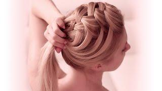 Французская коса водопад крест накрест ❤ Причёска самой себе, своими руками(Всем привет! Сегодня я предлагаю вам украсить распущенные волосы оригинальным плетением. Это упрощенная..., 2014-11-22T12:00:02.000Z)