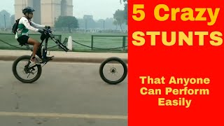 Top 5 Easy and Stupid MTB Stunts That Anyone Can Perform| Must Watch !! | Part 1