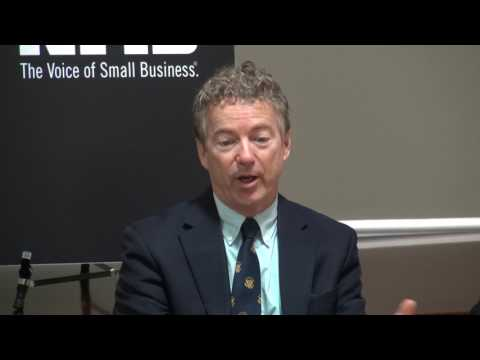 U.S. Sen. Rand Paul to NFIB: Health-Care Costs Keep Going Up