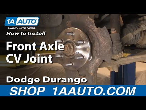 Auto Repair: Replace Front Axle CV Joint Dodge Durango Dakota 1998-03 - 1AAuto.com