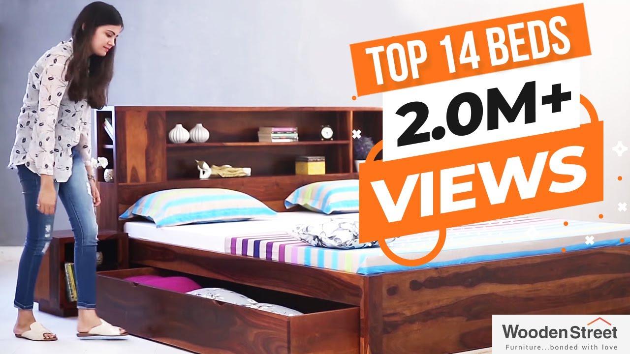 Bed Design | Top 14 Double Bed Design Online | Amazing Wooden Bed Design  Online | Storage Bed Design