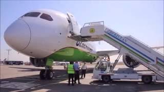 Boeing 787 Dreamliner приземлился в Ташкенте!