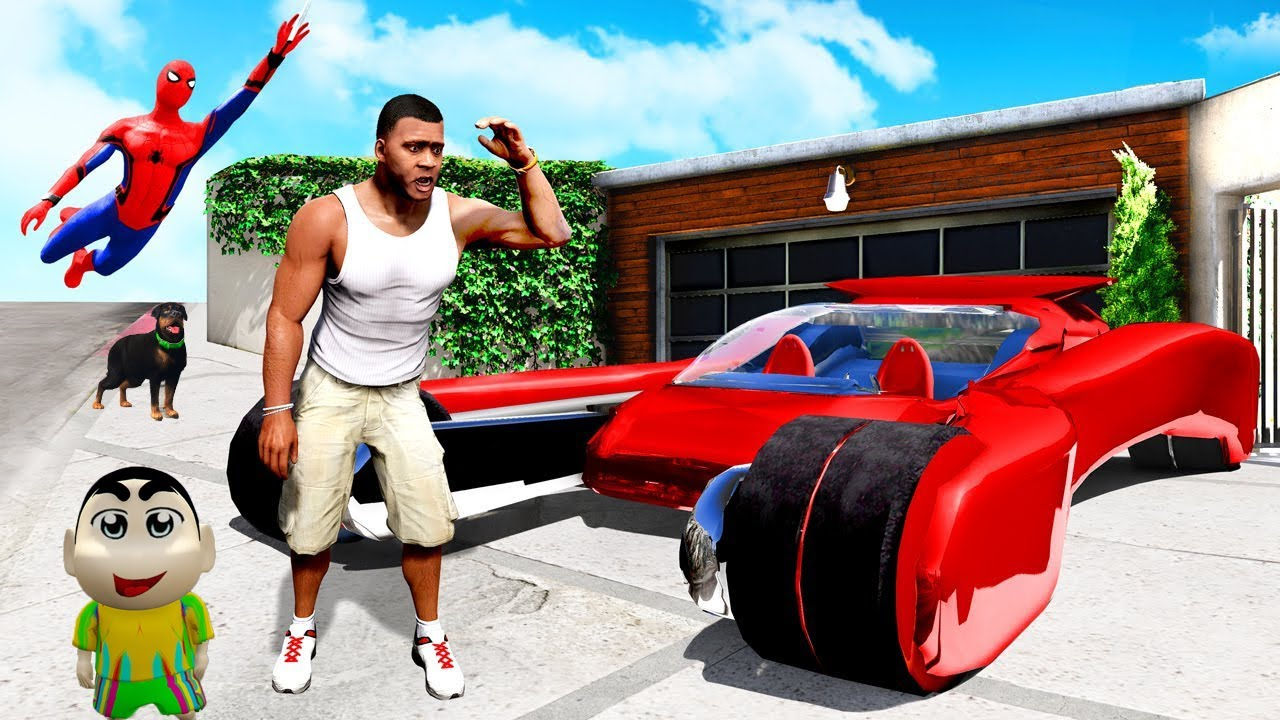 GTA 5 : Collecting SPIDERMAN Supercar in GTA 5 For RESCUE CHOP | (GTA 5 mods)