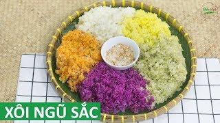 Cách nấu Xôi Ngũ Sắc đẹp cúng giao thừa Ngày Tết   Món Việt