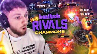 we dethroned Tyler1 as the new Twitch Rivals CHAMPIONS!!