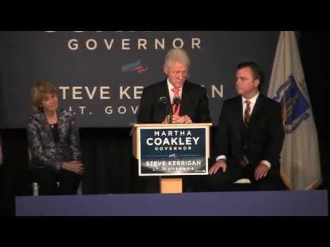 President Bill Clinton interviews Martha Coakley