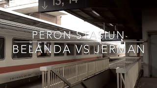 Stasiun kereta Belanda vs Jerman