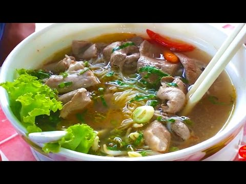 Asian Street Food - Cambodian Street Food Noodle Compilation - Khmer Noodle Breakfast