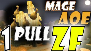 WoW Classic Gold Farm Mage AoE ZF in 1 Pull