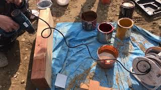 施述室内の木部塗装色の打合せ03 みやび鍼灸接骨院 thumbnail