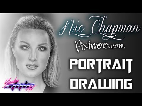 Watch me Draw: Nicola Haste (Chapman) PIXIWOO REAL TECHNIQUES Photorealistic Drawing