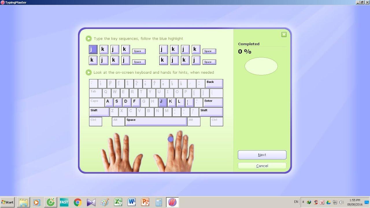 Hướng dẫn Tải phần mềm luyện tập – học gõ 10 ngón typing master không cần cài đặt cực nhanh