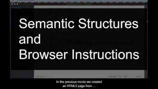 HTML5 Semantic Structures