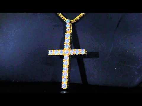 Single Row Solitare Cross | Treasures Jewelry