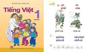 dạy bé học chữ cái chu cai Học tiếng việt lớp 1 Tập 1 Bài 22   PA channel