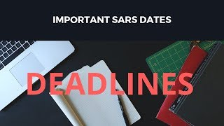 Important SARS dates - South Africa 2019