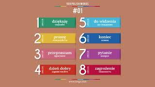 #01 - ПОЛЬСКИЙ ЯЗЫК - 500 основных слов. Изучаем польский язык самостоятельно