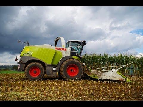 Forage Harvester in Action with CLAAS Jaguar 970, FENDT, NEW HOLLAND, DEUTZ, JOHN DEERE,