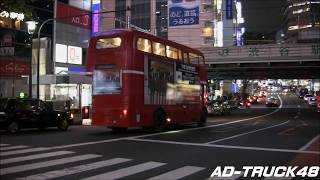 渋谷を走行する、THE BAWDIES (ザ・ボゥディーズ) ベストアルバム&武道...