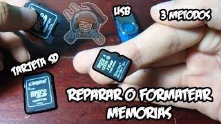 FORMATEAR o REPARAR memoria dañada  tarjeta SD, pendrive o USB | Mr. Yisus