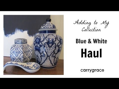 Chinese Blue White Porcelain Large Ginger Jar cs601-5 from YouTube · Duration:  31 seconds