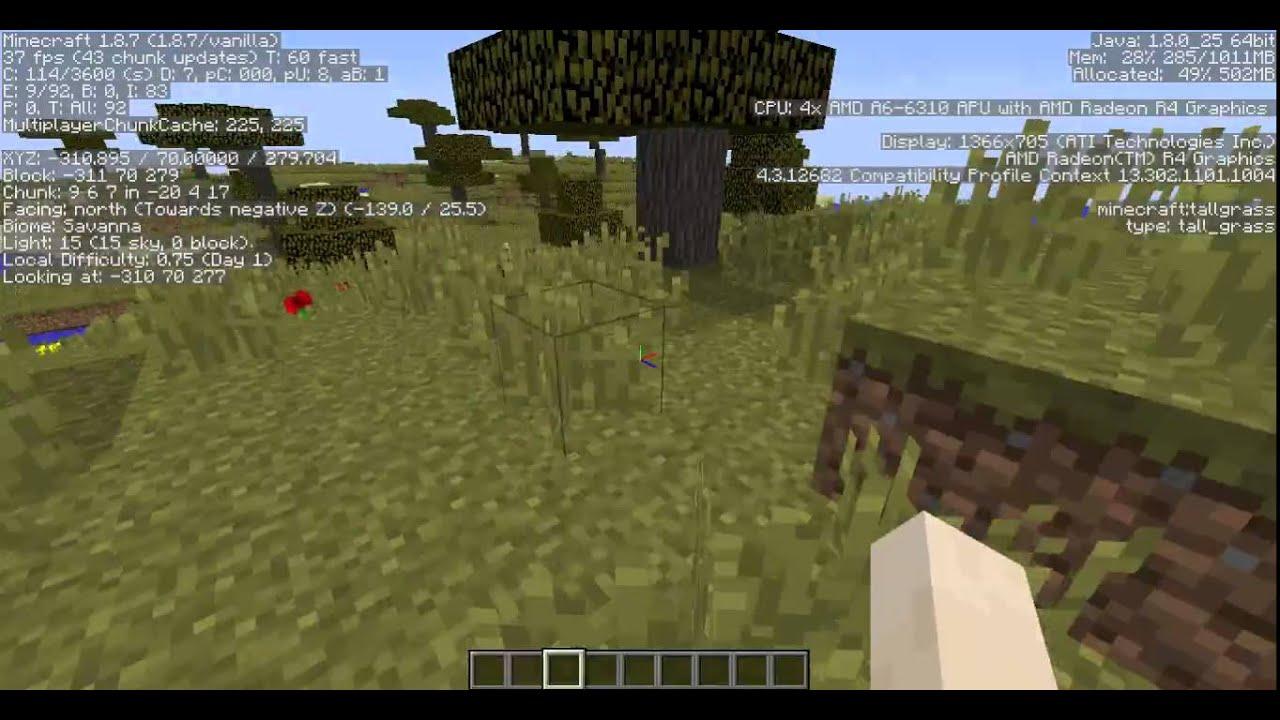 Amd A6 Gaming Minecraft A6 6310 Radeon R4 Youtube