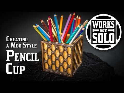 How to Make a Modern Design Pencil Cup with a CNC Router