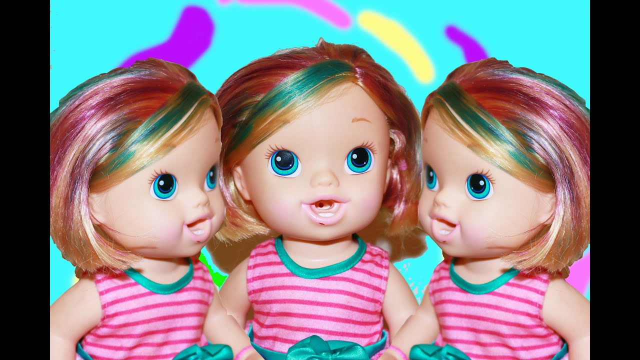 Diy Baby Alive How To Color Hair Crayola Markers Youtube